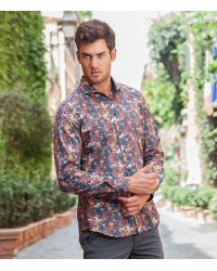 Shirt Napoli Poplin Black and Ocher