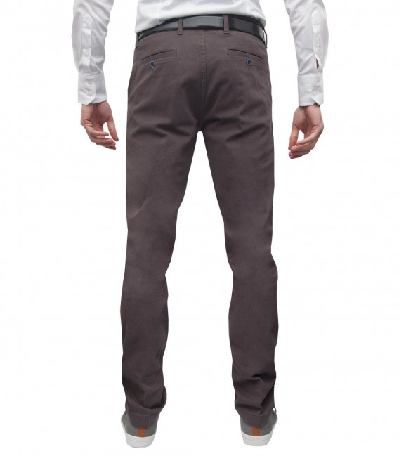 trousers Ischia cotton gabardine Medium grey