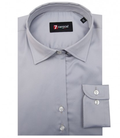 Shirt Giulietta Satin Light Grey