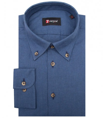 Shirt Leonardo Flanel Light Blue
