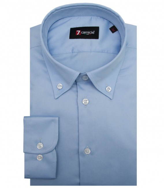 Shirt Leonardo Satin Light Blue