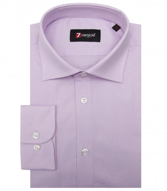 Shirt Firenze Honeycomb fabric Lilac