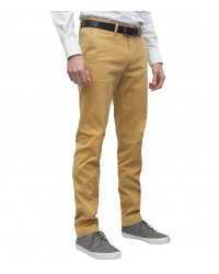trousers Ischia cotton gabardine Mustard