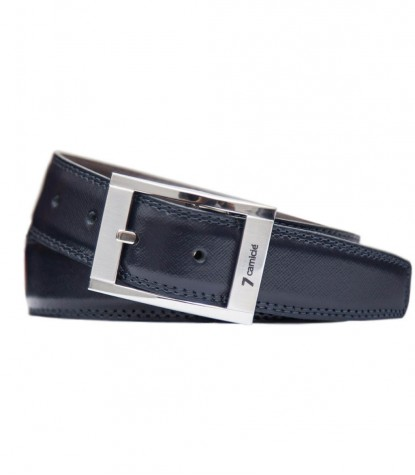 Cintura double face marrone blu