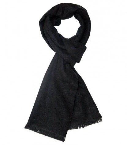 Black and grey double-faced scarf
