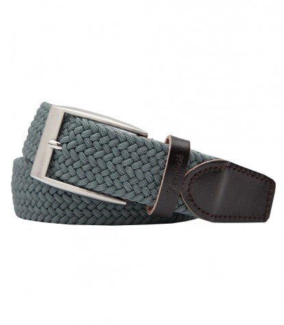 Light Gray Braided Elastic Cotton Belt