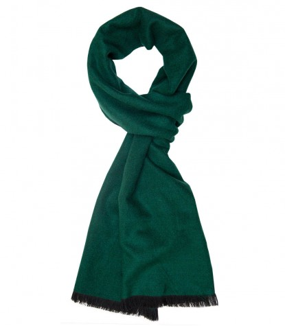 Blue and green double-faced scarf