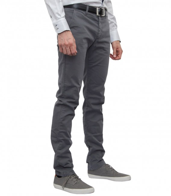 Trousers Ischia cotton Medium Grey