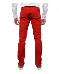Trousers Ischia Cotton Red