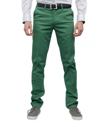 Trousers Ischia Cotton Green