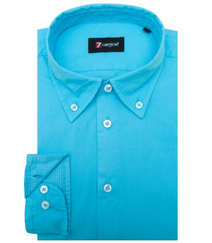 Shirt Leonardo poplin Melange Light Blue