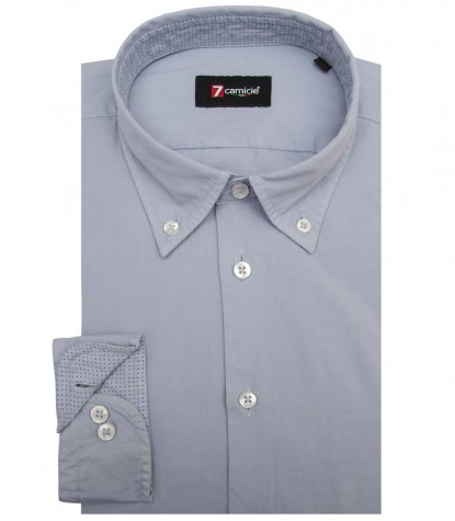 Shirt Leonardo poplin Light Grey