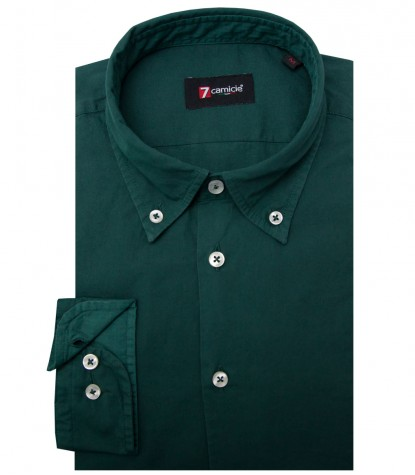 Shirt Leonardo poplin Dark Green