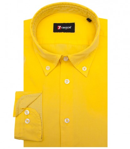 Shirt Leonardo poplin Yellow