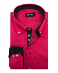 Shirt Roma stretch poplin Fuchsia