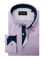 Chemises Roma Oxford Lilas