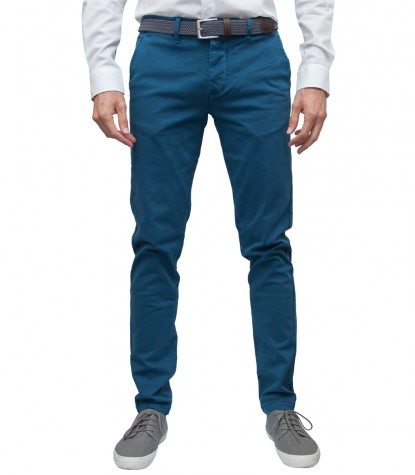 Trousers Ischia Cotton Dust Blue