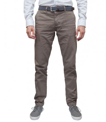 Trousers Ischia Cotton Dove Brown