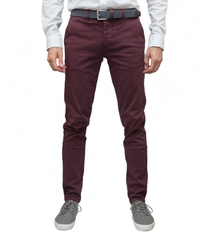 Trousers Ischia Cotton Bordeaux