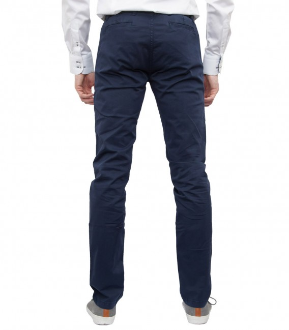 Trousers Ischia Cotton Blue