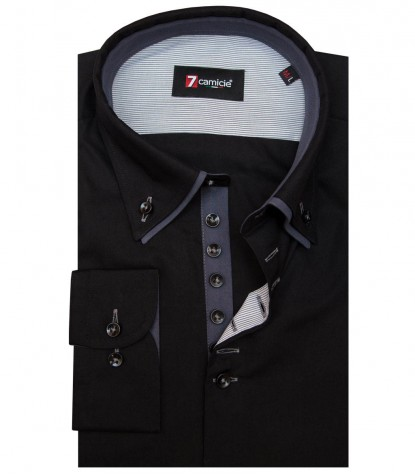 Shirt Donatello poplin Black