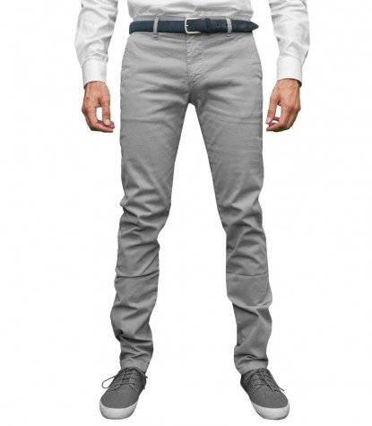 Trousers Capri Cotton Grey