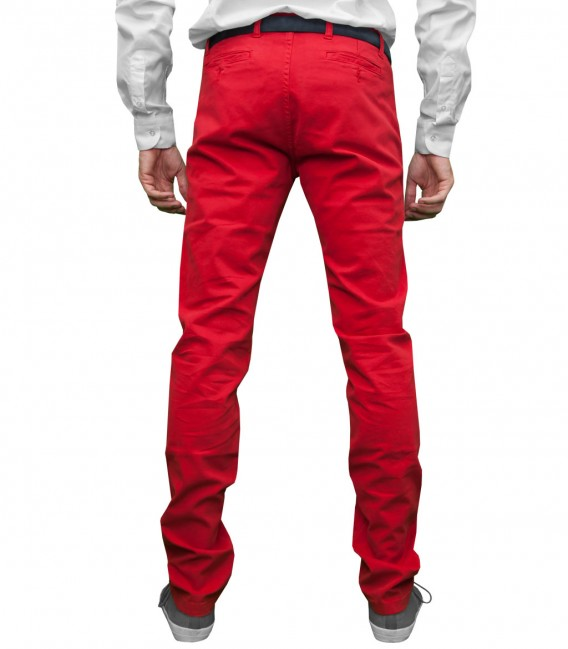 Trousers Capri Cotton Red