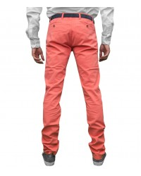 Trousers Capri Cotton Coral Red