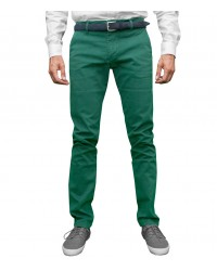 Trousers Capri Cotton Green