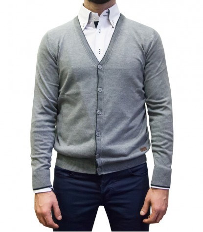 Knitwear Milano Blended Cachemire Medium Grey Blue