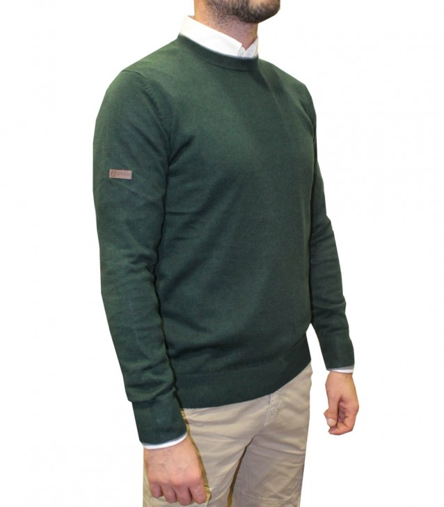 Knitwear Roma Blended Cachemire Dark Green and Medium Grey