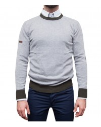 Knitwear Roma Blended Cachemire Light Grey and Military Green