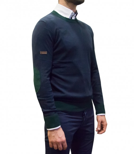 Knitwear Roma Blended Cachemire Blue Dark Green