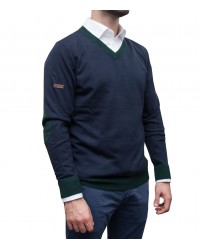 Knitwear Napoli Blended Cachemire Blue Dark Green