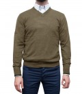 Knitwear Napoli Blended Cachemire Mud Brown and Military Green