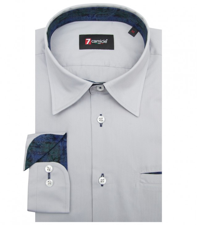 Shirt Tiziano poplin Light Grey