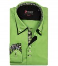 Camicia Donatello Satin Verde Medio