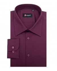 Shirt Romeo stretch poplin Red Bordeaux
