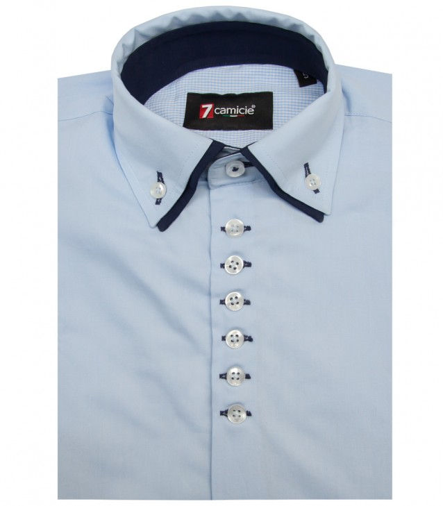 Shirt Renzo poplin Light Blue