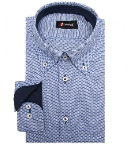 Shirt Leonardo Weaved WhiteBlue