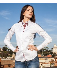 Shirt Elena Satin White