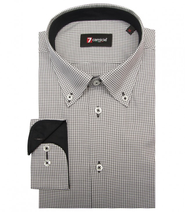 Shirt Leonardo Weaved Middle Shade GreyWhite
