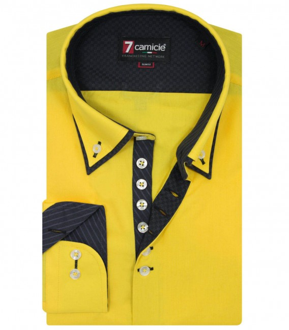 Shirt Donatello poplin Yellow