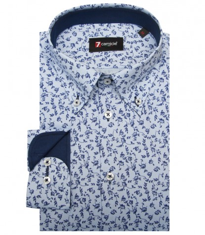 Shirt Leonardo Oxford Light BlueBlue
