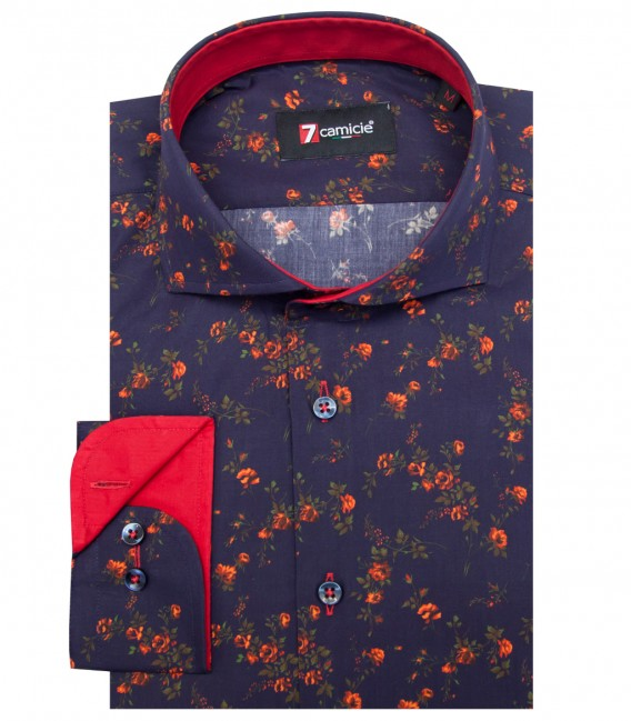Shirt Napoli Poplin BlueRed