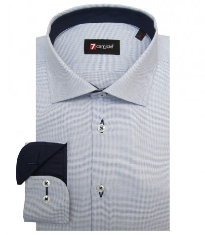 Shirt Firenze Cotton Light BlueWhite
