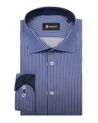 Shirt Firenze Satin BlueWhite