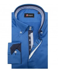 Shirt Roma Satin Bluette