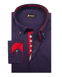 Shirt Roma Satin BlueRed