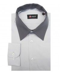 Shirt Caravaggio poplin Light Grey